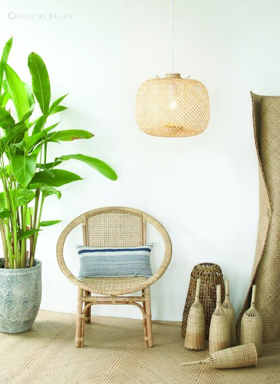 boho bamboo lighting