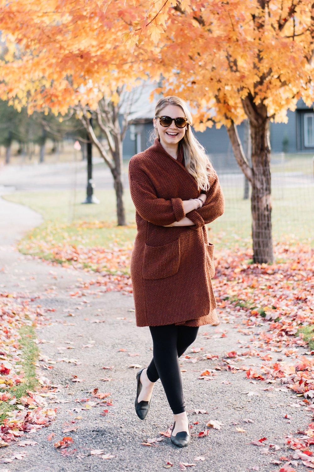 cozy fall cardigan