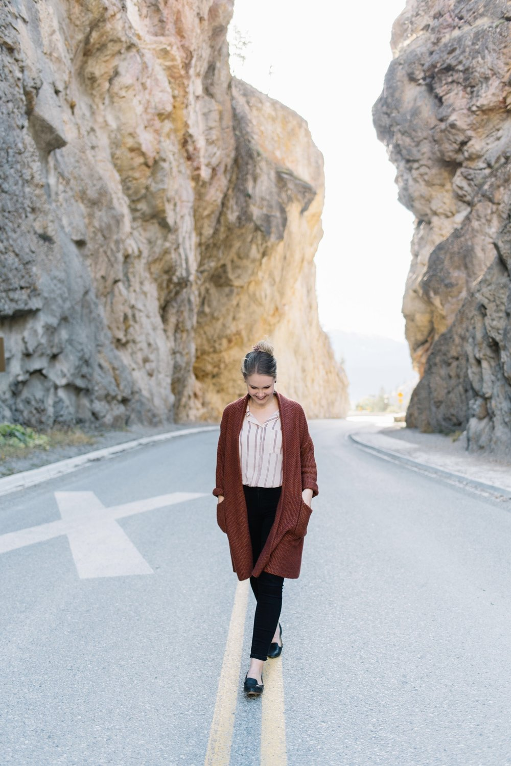 fall cardigan, radium british columbia