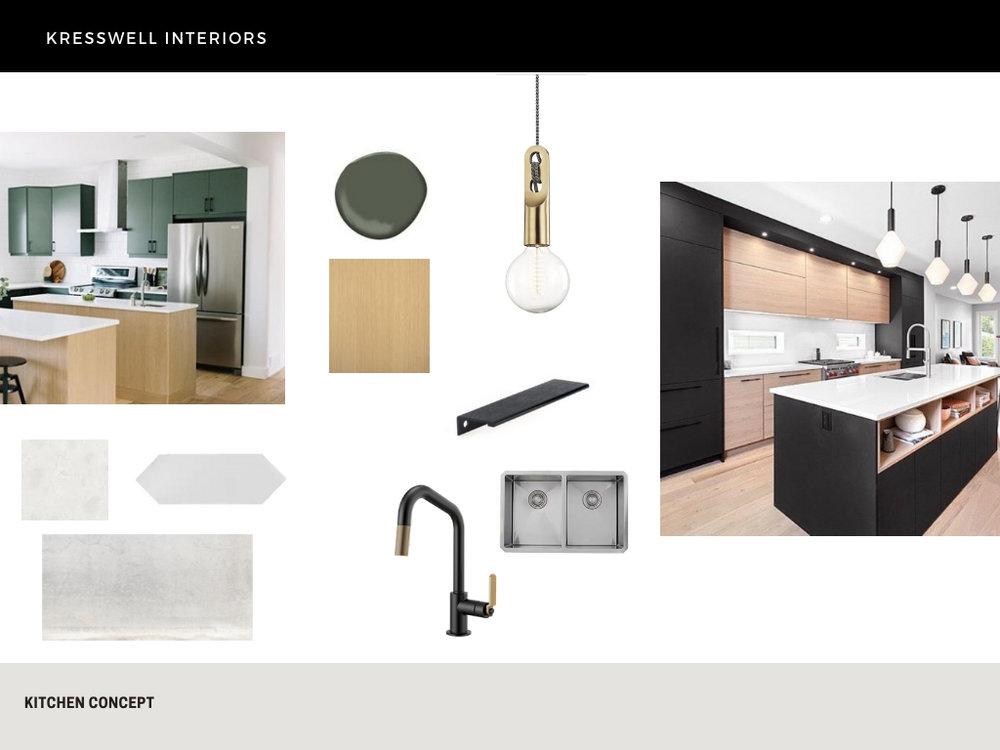 modern minimalist kitchen design plan