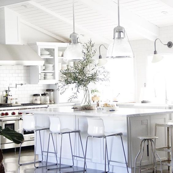 olive branches in kitchen