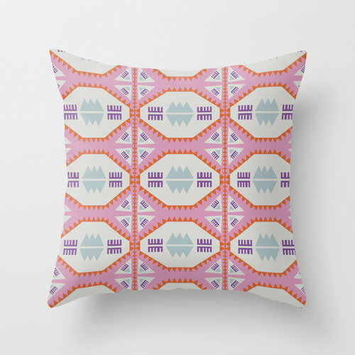 """Geometric x Southwestern Love"" -  throw pillow"