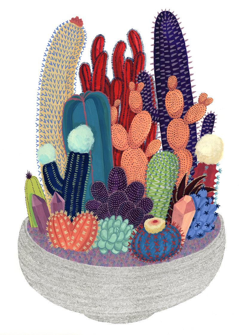 """""""Crystal Cactus Print"""" byMelinda Boyce"""