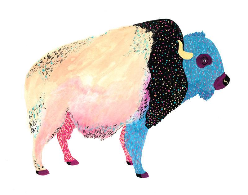 """""""Cosmic Buffalo Print"""" byMelinda Boyce"""