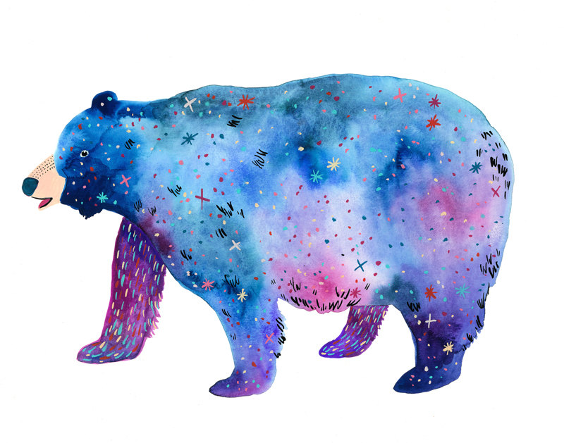 """Space Bear Print' by Melinda Boyce"