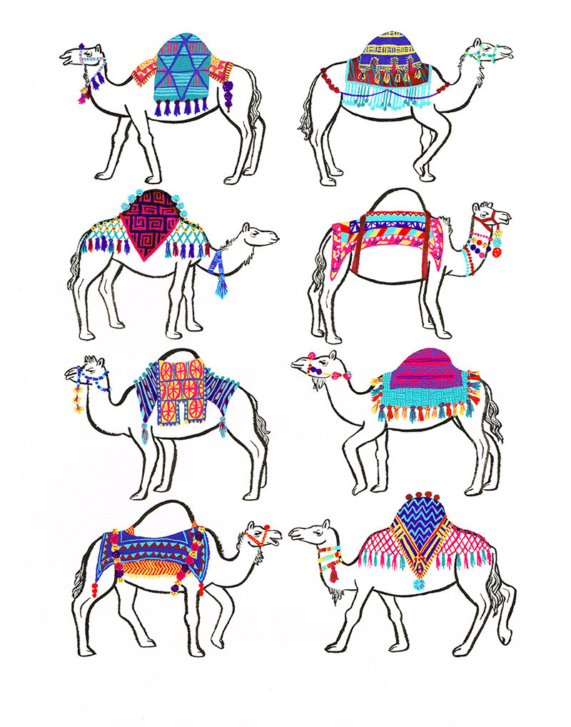 """Camel Couture Print"" by Melinda Boyce"