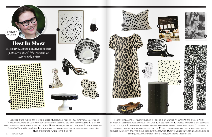 "My iphone case, ""Dalmatian Geometry"" was featured in the October 2012 issue of Matchbox Magazine"