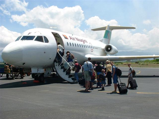 Another plane, another country, Solomon Islands, January 2003