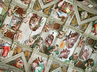 Sistine Chapel Ceiling by Michelangelo, at the Vatican