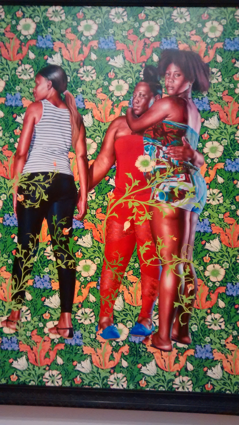 Naomi and Her Daughters, Kahinde Wiley at the Fort Worth Museum of Modern Art