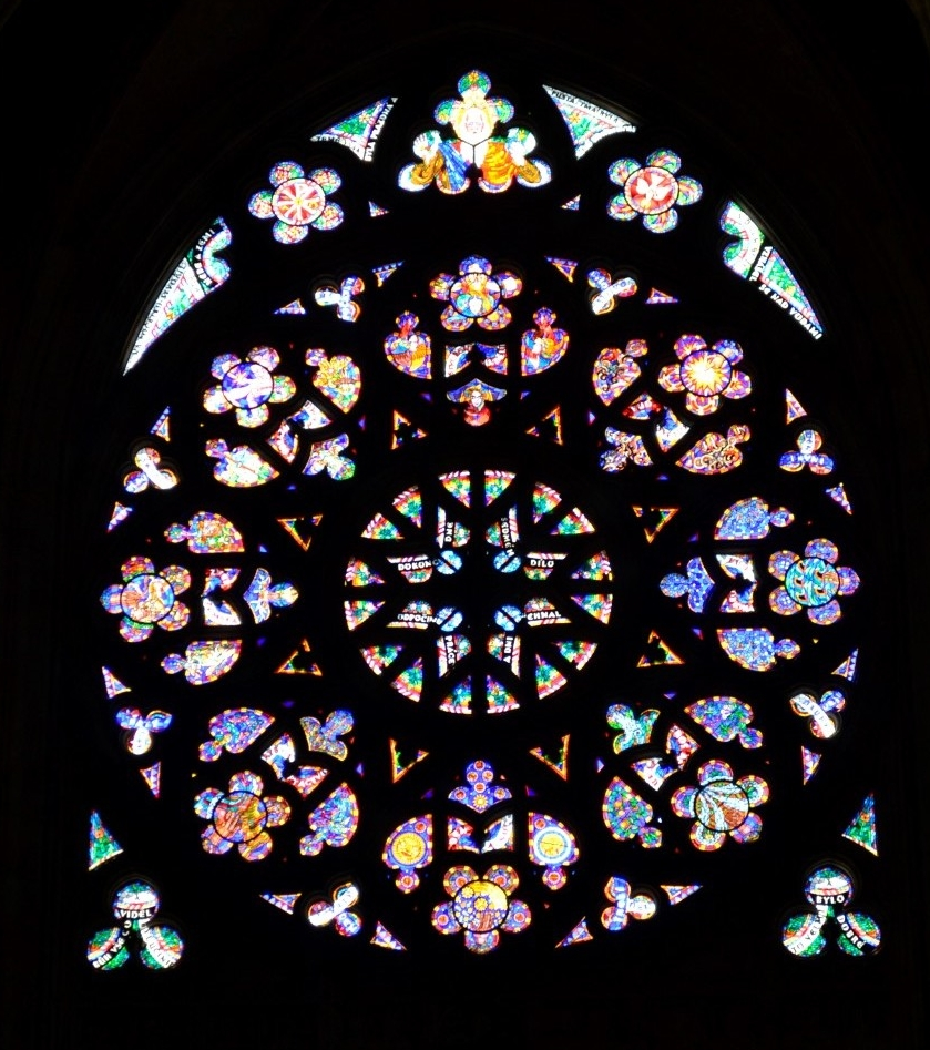 Church window, Prague.  Photo: me and my cell phone