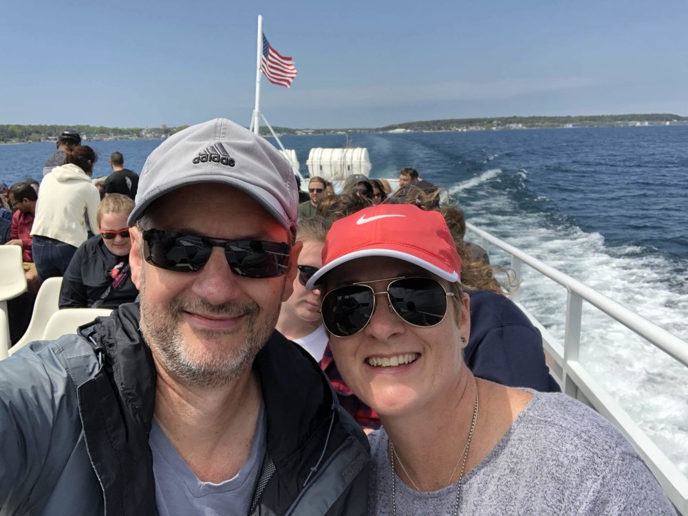 aboard the ferry to Mackinac Island, Michigan Upper Peninsula