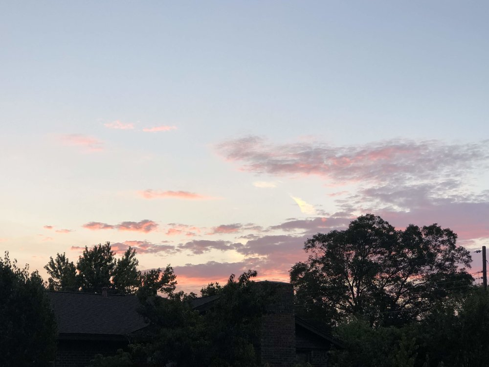 Sunset with angel wings above our house