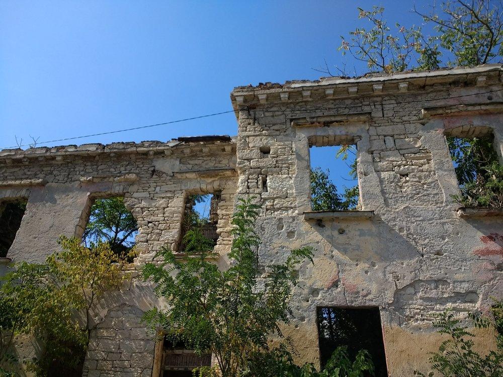 War-ruined buildings, Mostar, Bosnia-Herzegovina