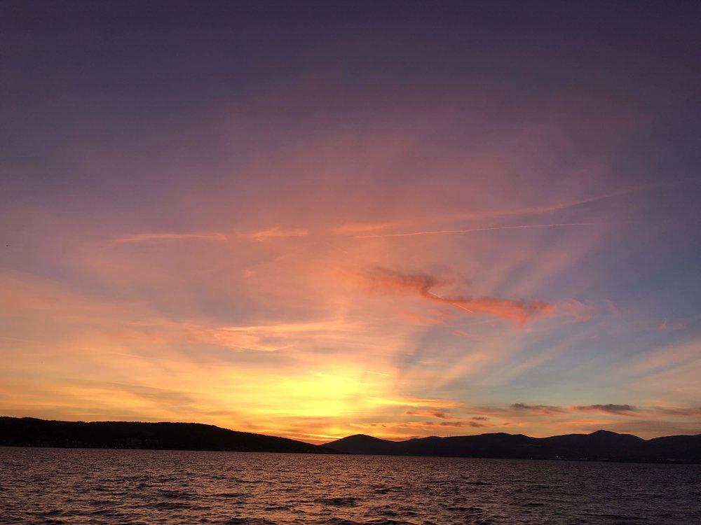 Sunset with angel wings, Split, Croatia