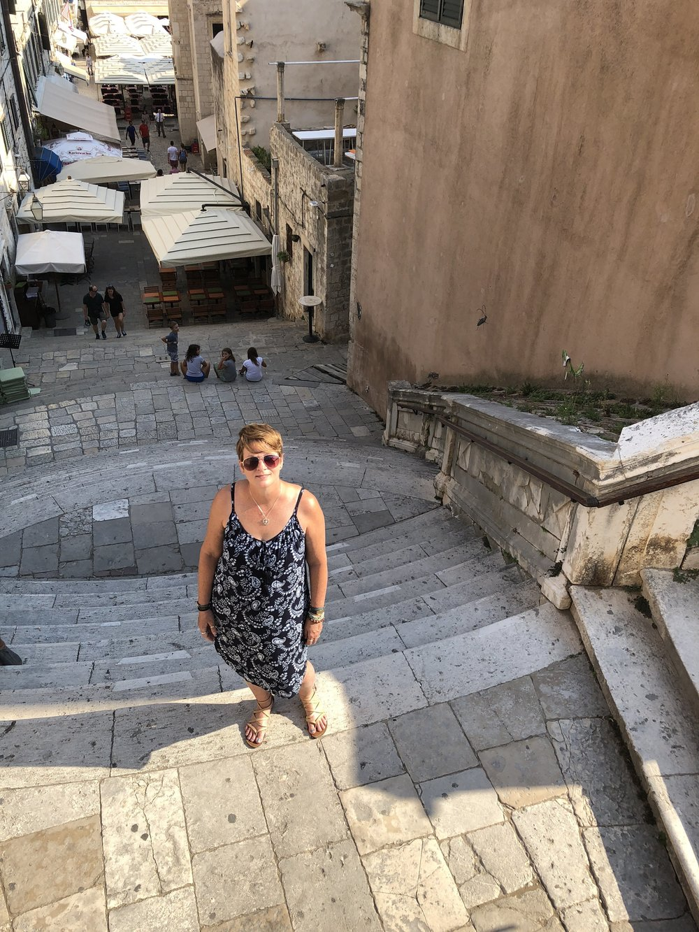 """The Jesuit Steps, Dubrovnik, Croatia: site of the Cersei Lannister """"shame"""" scene in  Game of Thrones"""