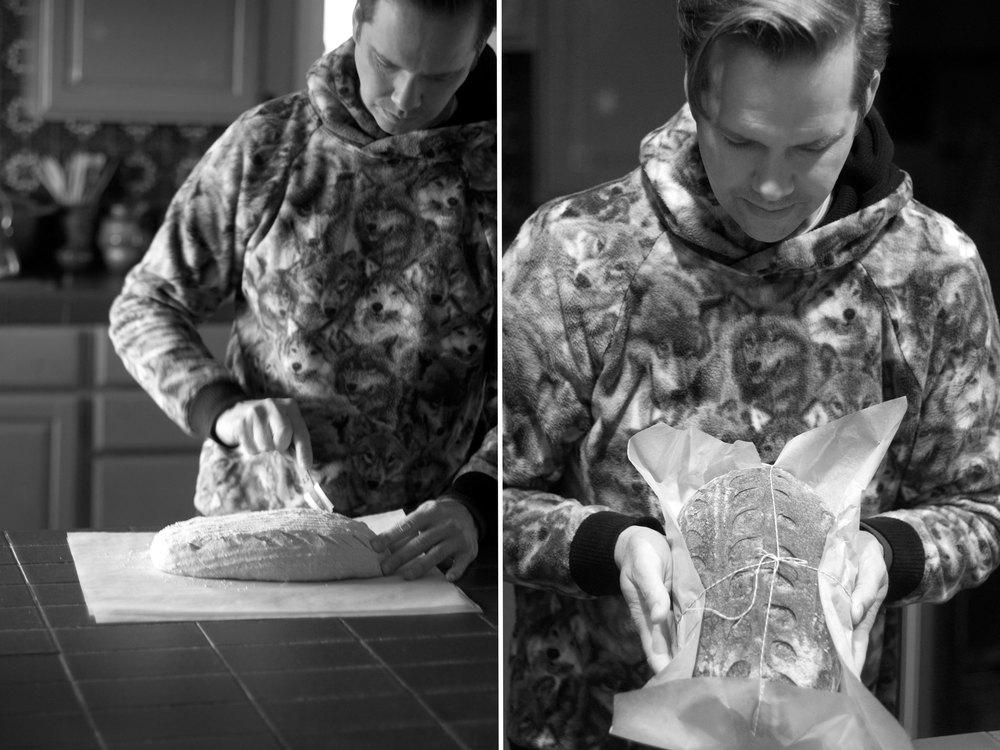 Dan Barney bakes bread