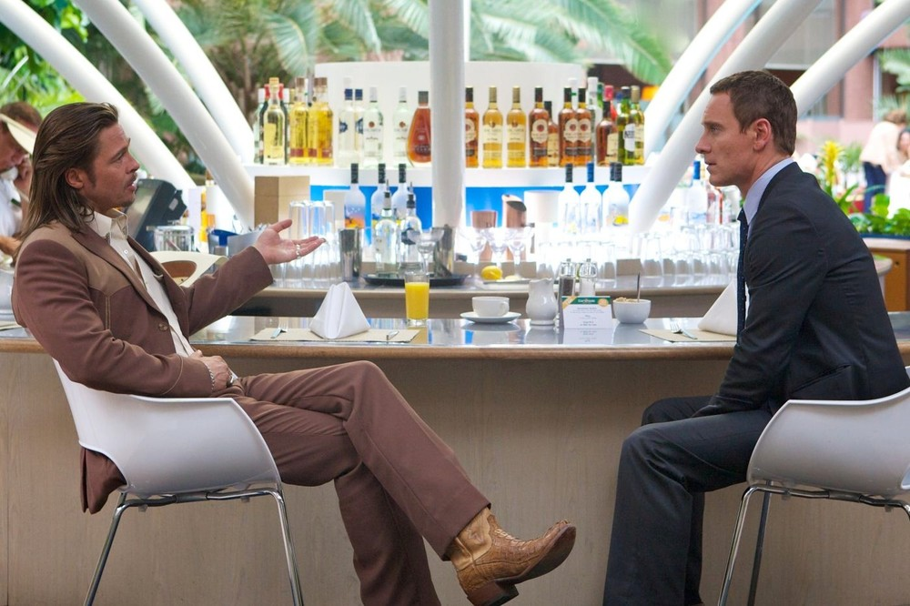 Brad Pitt and Michael Fassbender shine in Ridley Scott's The Counselor (2013).