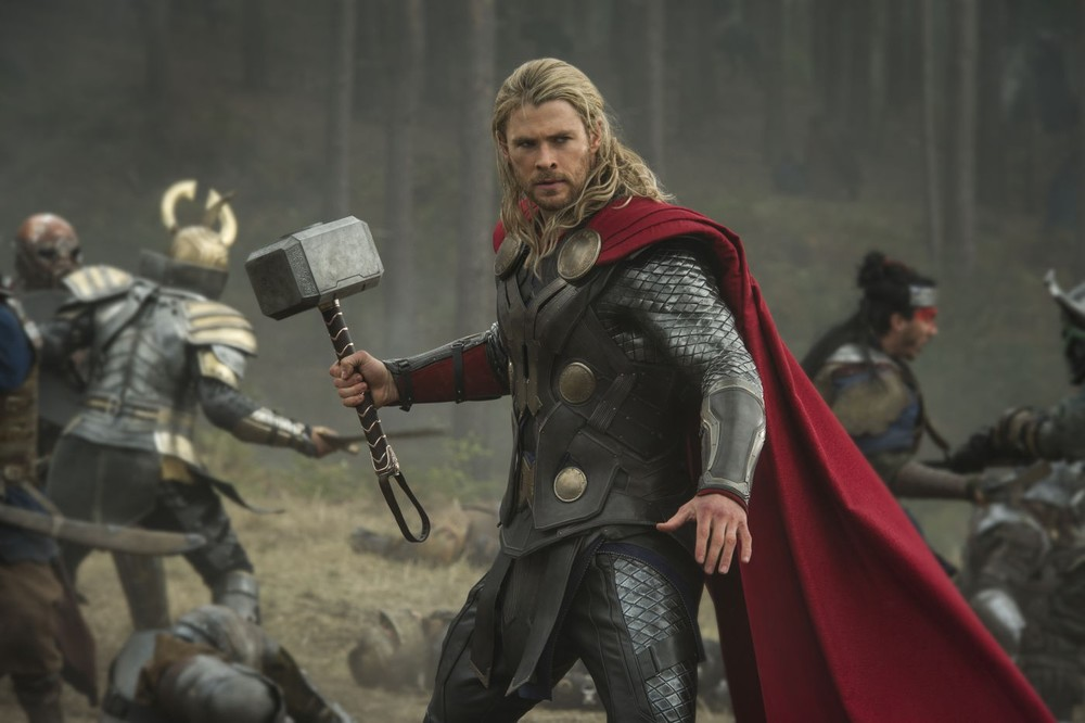 Chris Hemsworth brings fun to the role of Thor once again in Thor: The Dark World (2013).