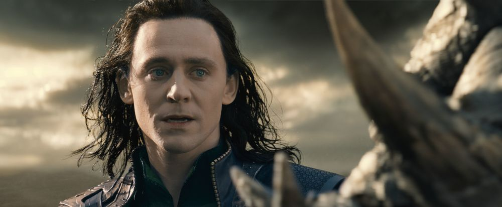 Tom Hiddleston steals the show as Loki in Thor: The Dark World (2013).