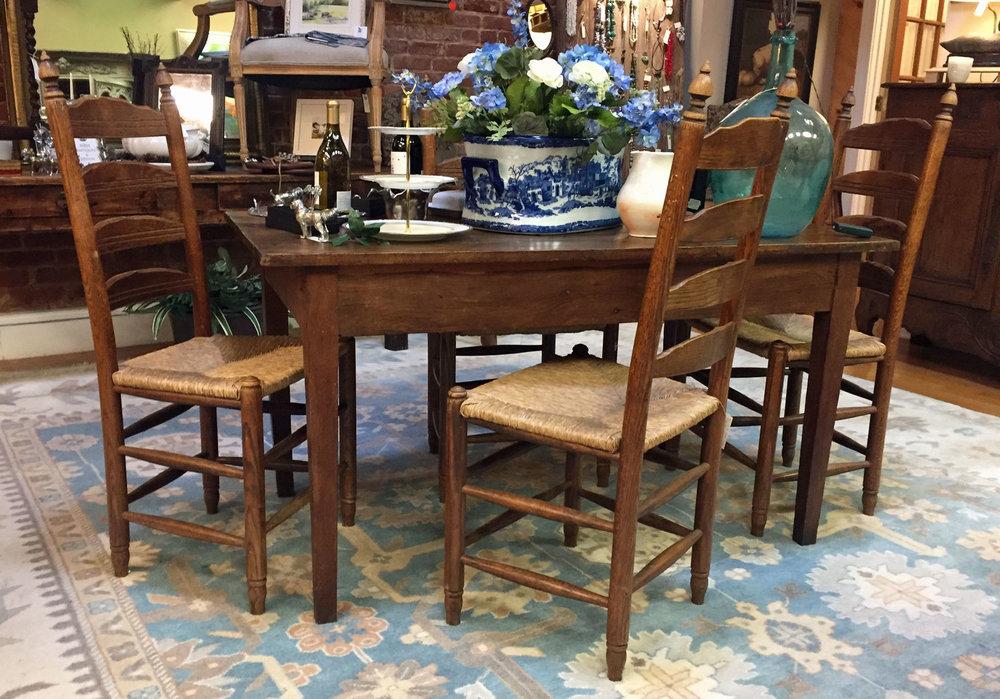 Farm table and English Chairs.jpg