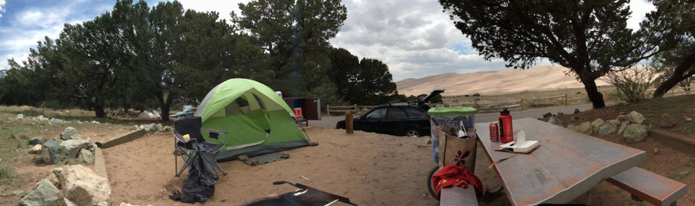 pinyon flats campground // located inside the great sand dunes national park // mosca, colorado