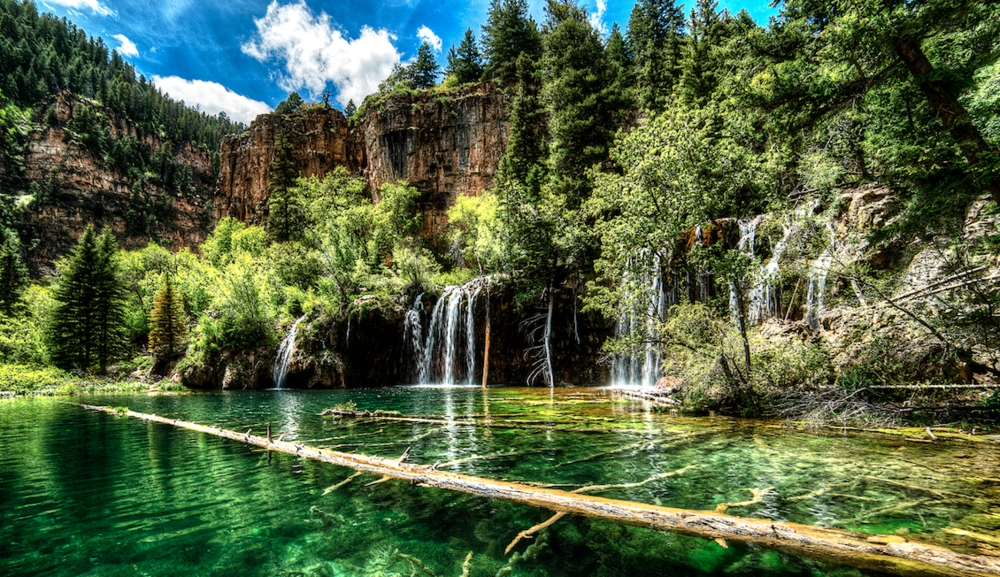 The hanging lake by frankiephotography // hdr image