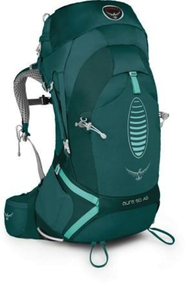 86991841c428 5. The Osprey Aura 50 AG Pack - this pack is enjoyable because it has a  state of the art backpacking mold and straps. When I tried this pack on  with about ...