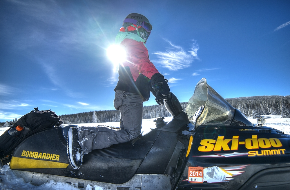 LIL_E ON SLEDS THIS PAST WINTER 2014 // IMAGE BY FRANKIEBOYPHOTOGRAPHY.COM