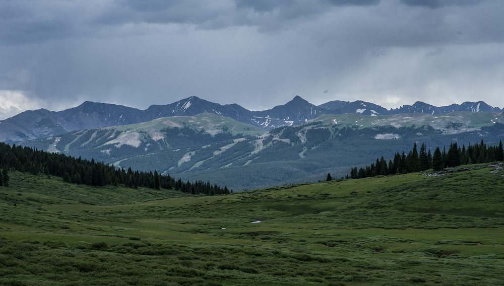 STORMY VIEWS FROM SHRINE RIDGE NEAR VAIL PASS, CO