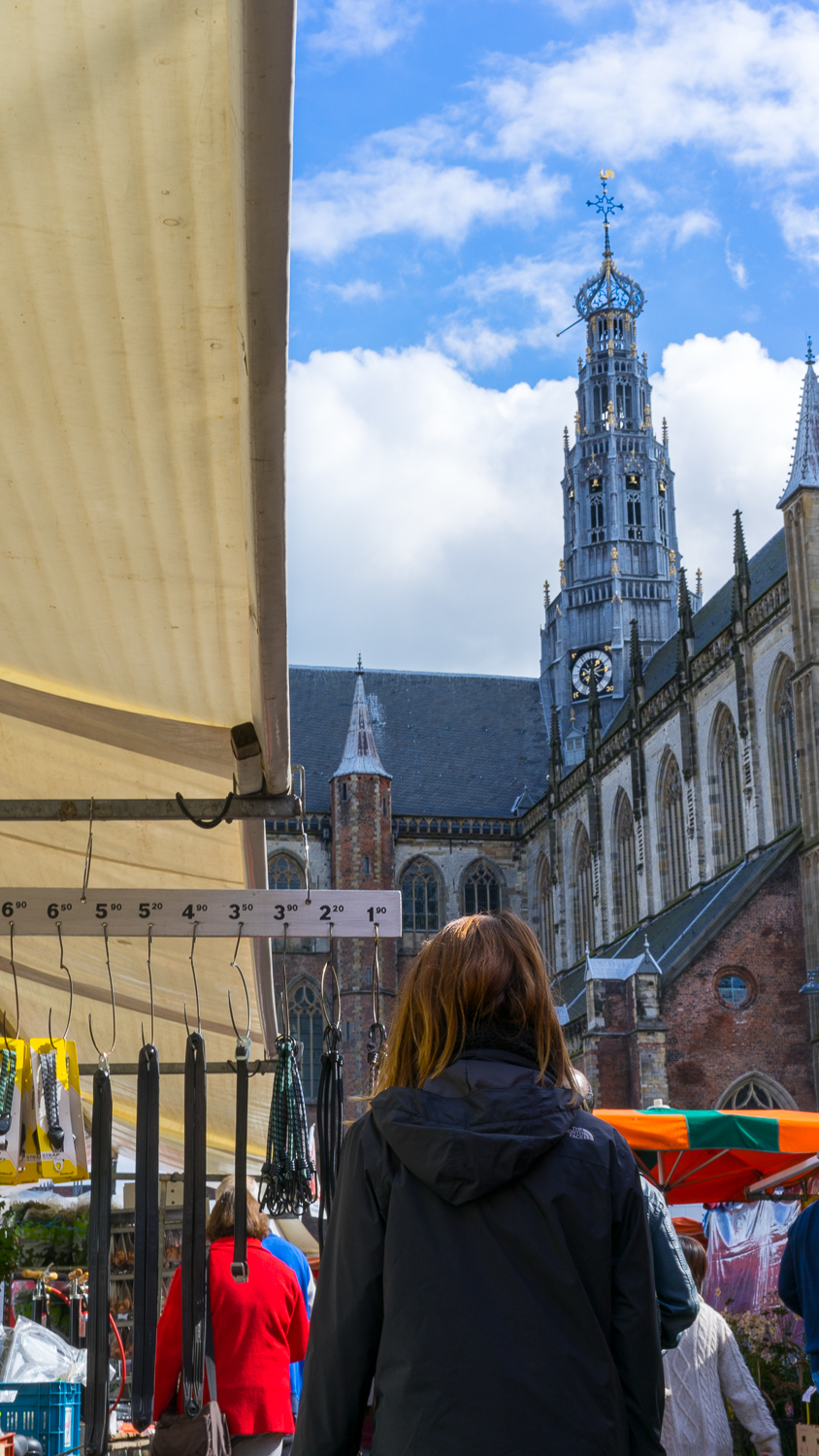 emily strolls the markets in haarlem