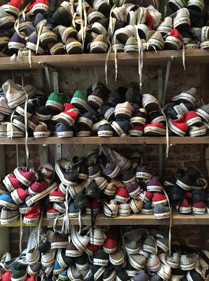 CONVERSE WALL // EPISODE THRIFT STORE // HAARLEM, NETHERLANDS