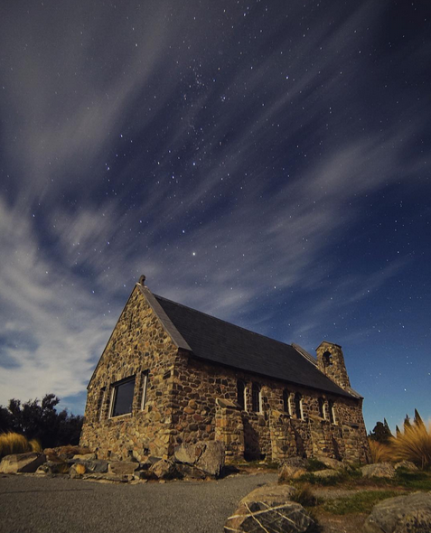 CHURCH OF THE GOOD SHEPARD | LAKE TEKAPO, SOUTH ISLAND, NEW ZEALAND