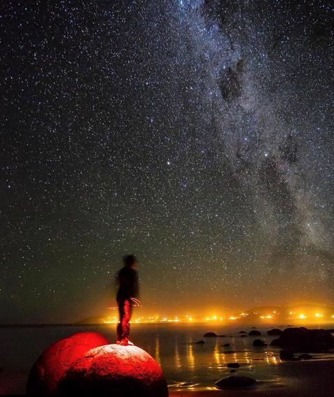 MOERAKI BOULDERS AT NIGHT | MOERAKI BEACH, SOUTH ISLAND, NEW ZEALAND