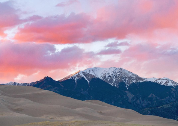 GREAT SAND DUNES NATIONAL PARK, GOLDEN HOUR, SOUTHERN COLORADO