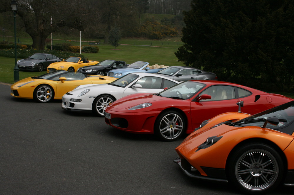 Pagani Zonda Roadster F, Porsche, Ferrari, Lamborgini