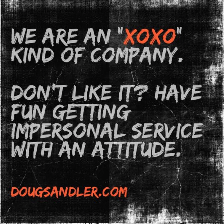 xoxo company Customer Service Rules  Nice Guys Finish First Doug Sandler