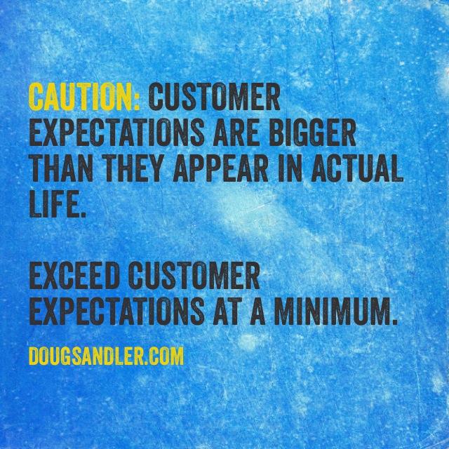 Expectations Customer Service Rules  Nice Guys Finish First Doug Sandler