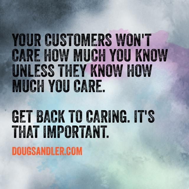 Caring customer service Customer Service Rules  Nice Guys Finish First Doug Sandler