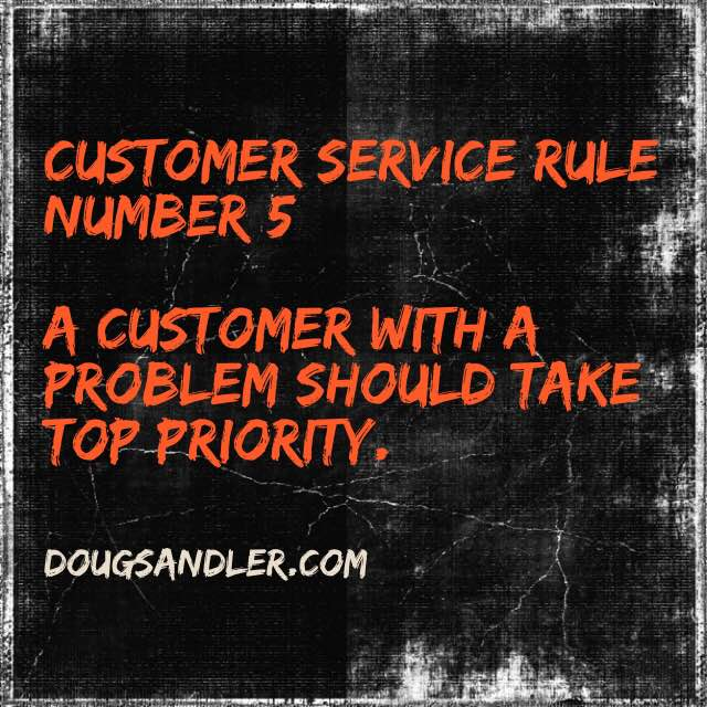 Customer Service Rule 5