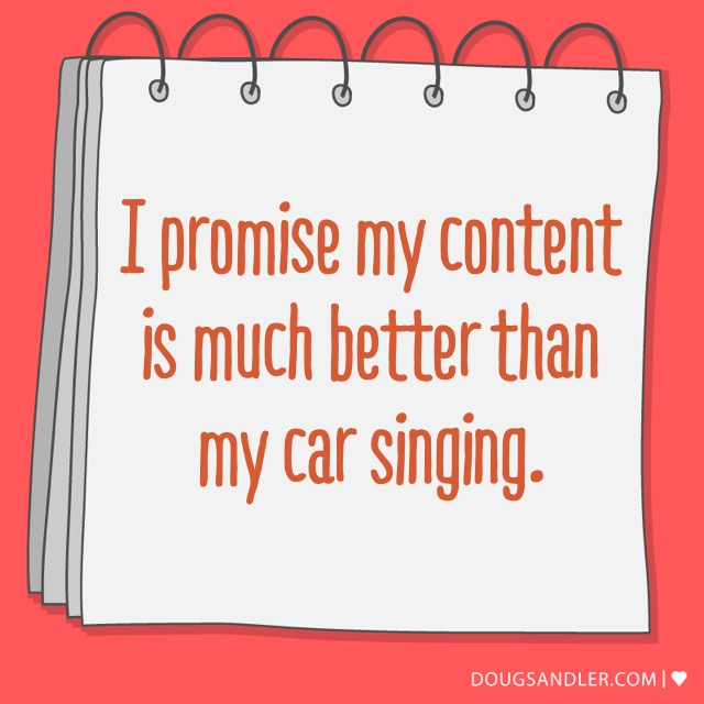 About content and car singing