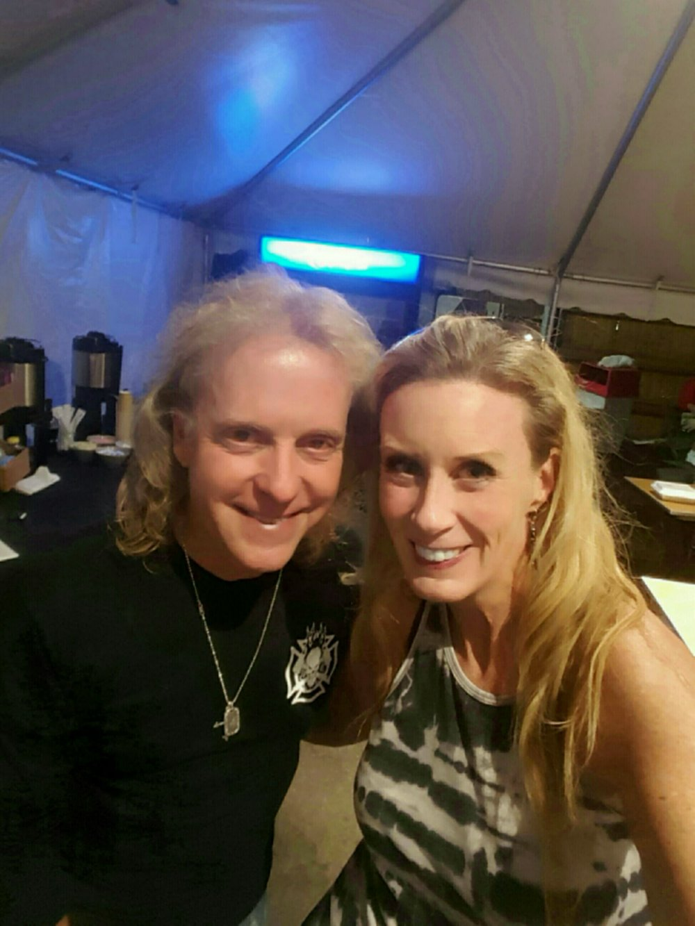 Stacey Sherman and Jack Blades from Night Ranger