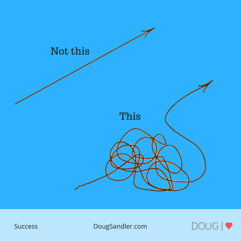 Success is not a straight line.