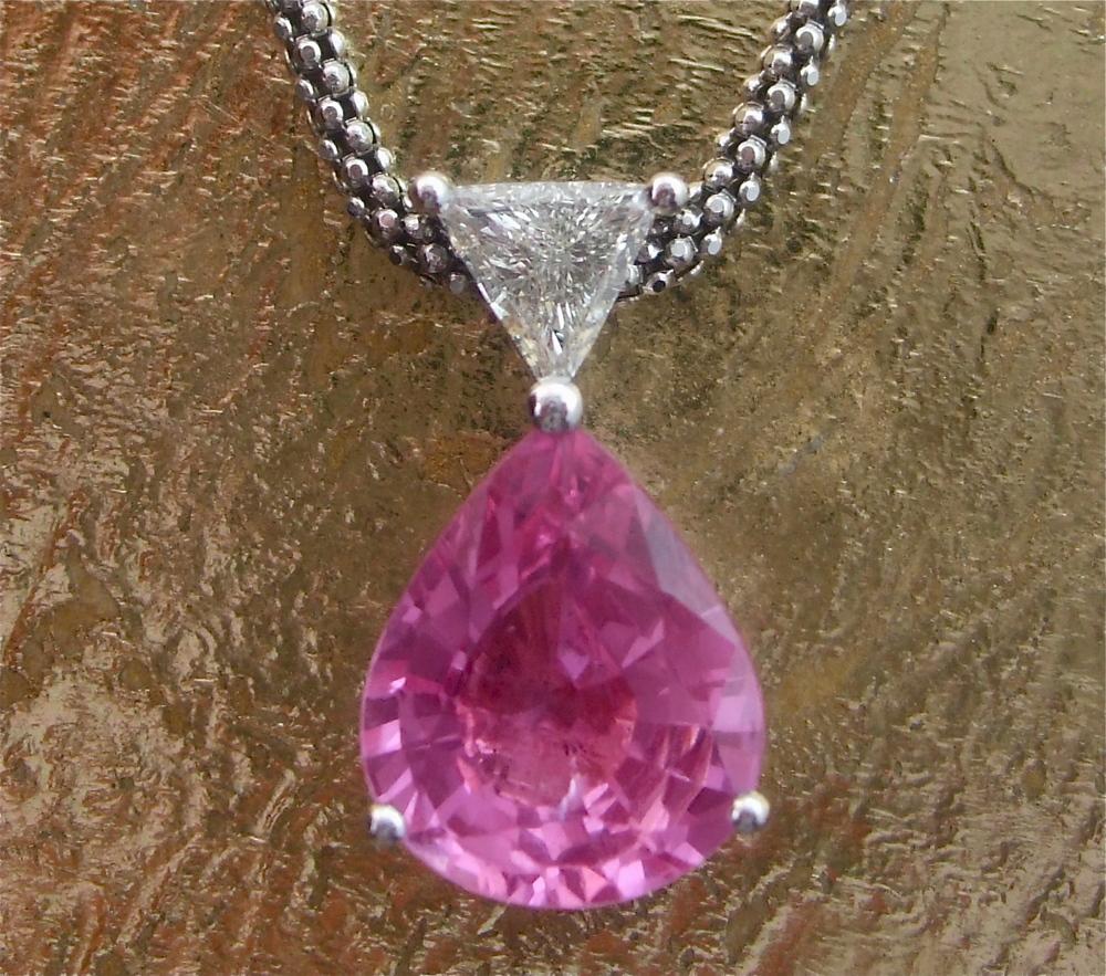 Pink Sapphire Pendant - Item No: 0013460