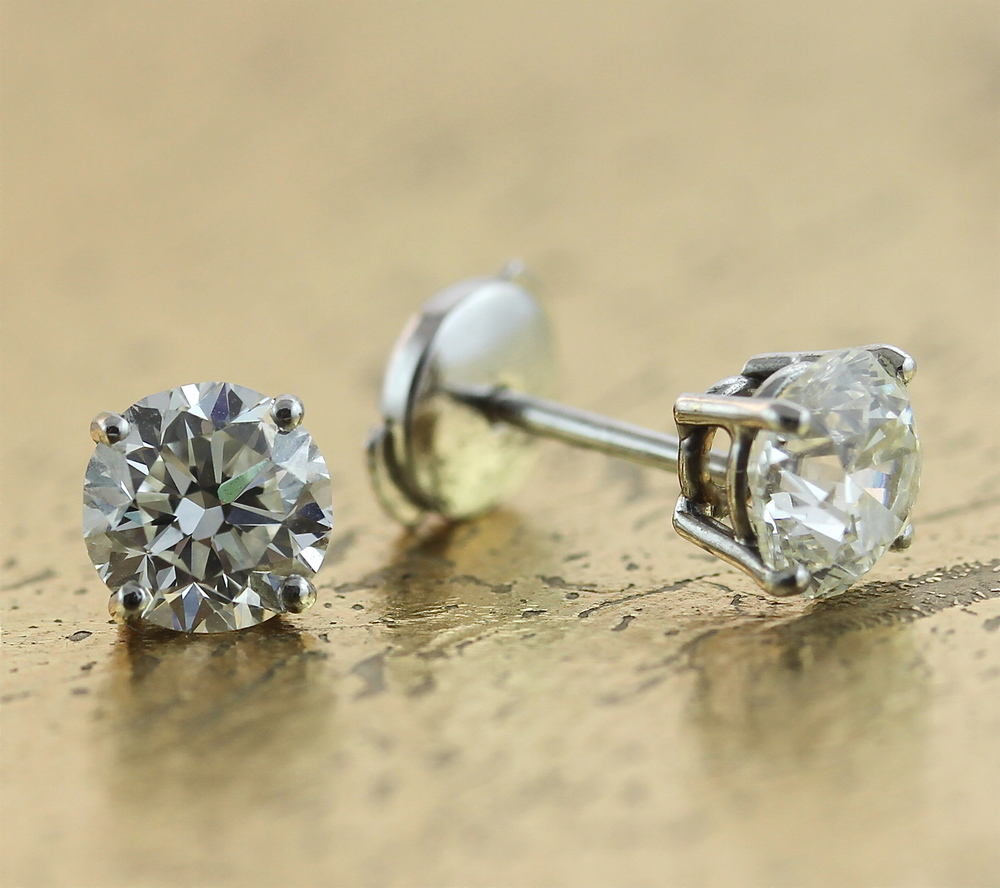 Diamond Earrings Studs from 0.25, 0.30, 0.50, 0.70, 1.00 carat & Up - Item No: 0013741