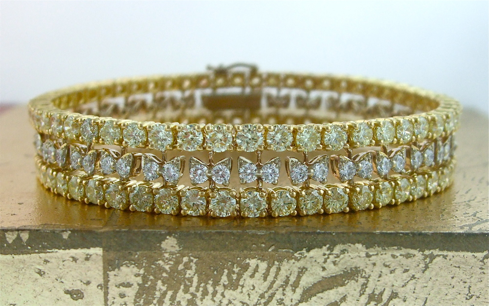 Bracelet Yellow & White Diamonds - Item No: 0013593