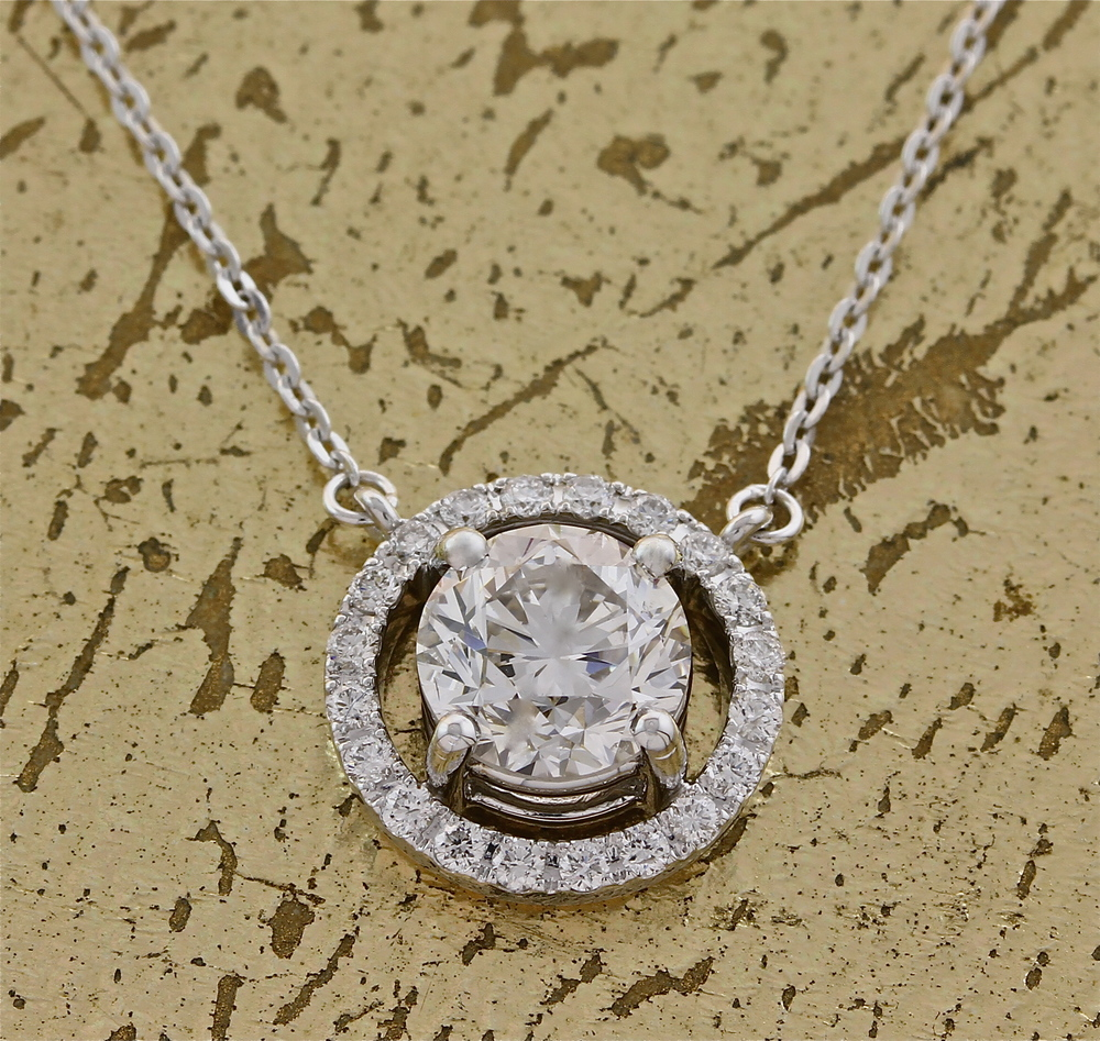 1 Carat Diamond Pendant - Item No: 0013768