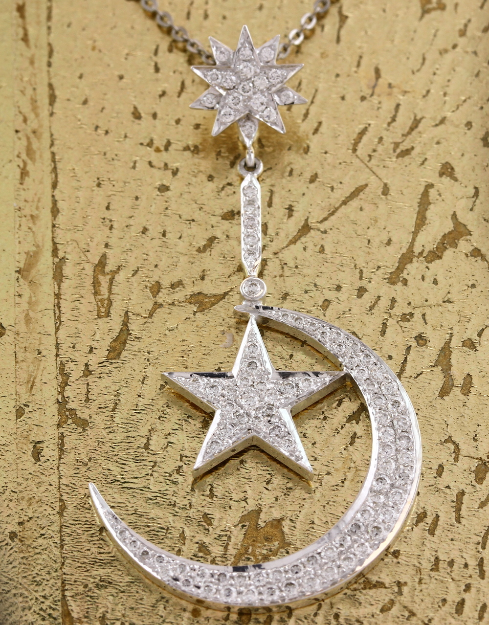 Moon & Star Diamond Pendant - Item No: 0013771