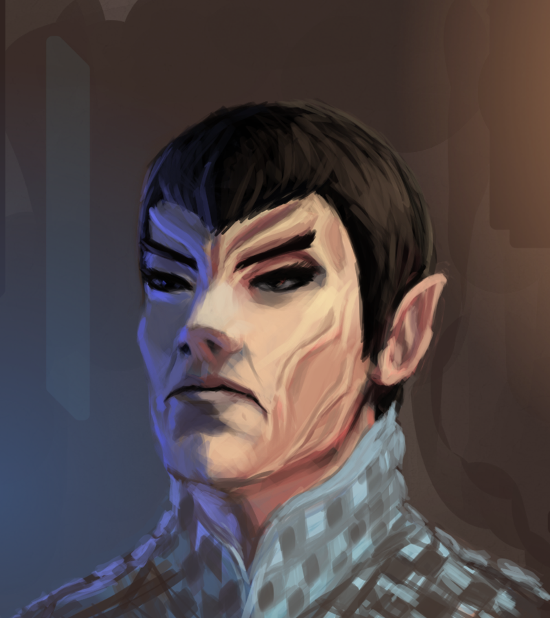 Romulan portrait painting