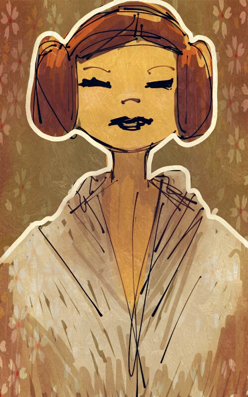 Leia portrait sketch
